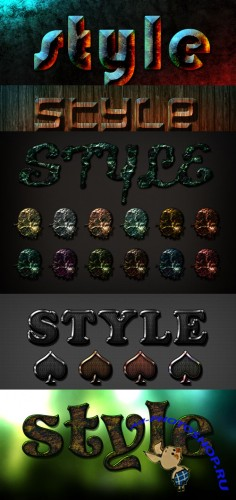 Sonarpos Text styles for Photoshop pack #3