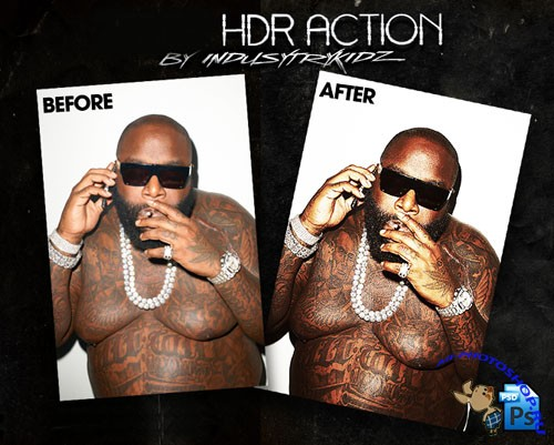 HDR Action for Photoshop