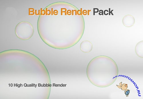 10 Highres Bubble Images Render Package