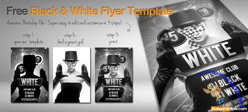 PSD Template - Black and White Flyer/Poster