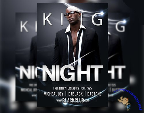 PSD Template - King Night Flyer/Poster