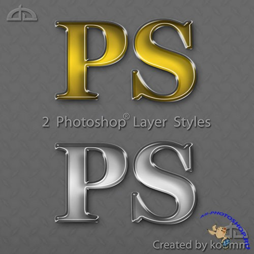 Gold and Silver Glossy Styles for Photoshop