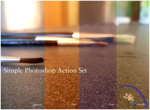 Simple Photoshop Actions Set