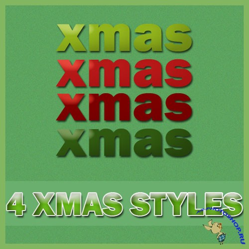 4 Christmas Styles for Photoshop