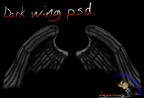 PSD Template - Dark Angel Wings