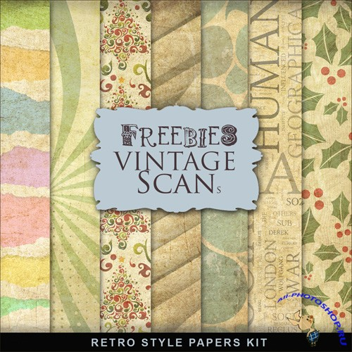 Textures - Retro Style Papers
