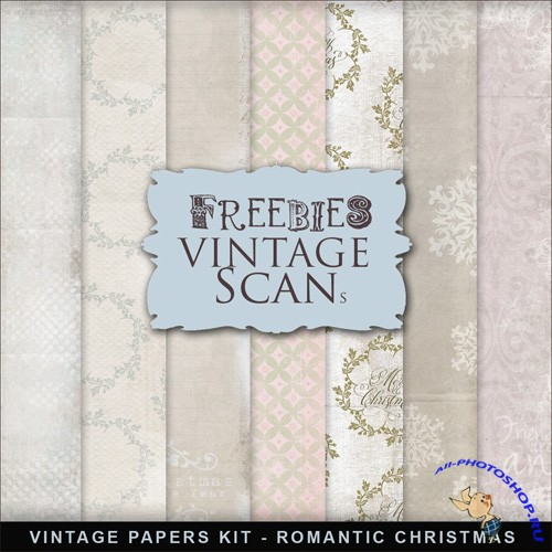 Textures - Vintage Style XMAS Papers 2