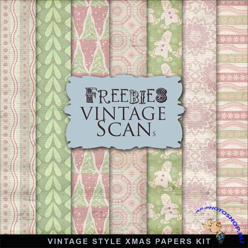 Textures - Vintage Style XMAS Papers