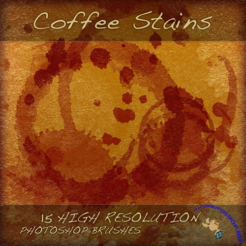 Coffee Stains Brushes for Photoshop