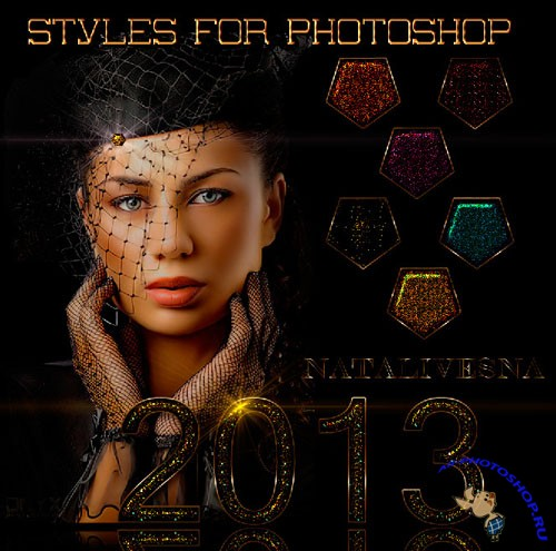 Glamour Shine Styles for Photoshop