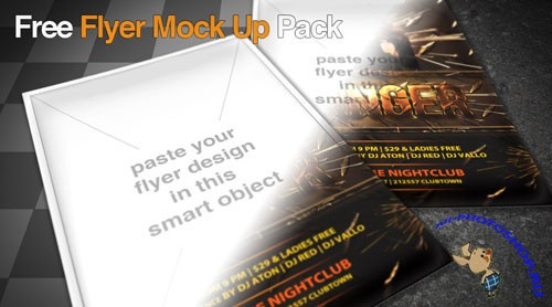 PSD Template - Awesome Photorealistic Flyer/Poster Mock Up