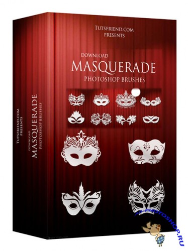 Mask brushes or Masquerade Brushes for Photoshop