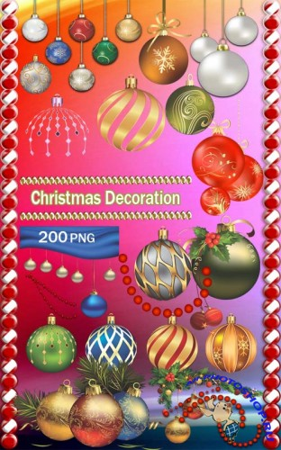 200 Christmas Decoration PNG Clipart