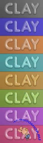 Clay Photoshop Layer Style – 8 Colors
