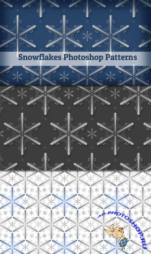 Snowflakes Patterns for Photoshop