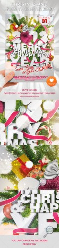 GraphicRiver - Christmas and New Year Flyer 2013 - 979556