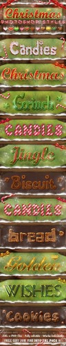 GraphicRiver - Christmas Photoshop Styles - Text Effects 861110