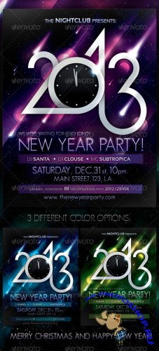 GraphicRiver - 2013 New Year Party Poster 499730