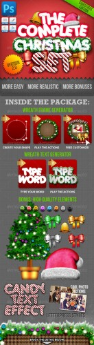 GraphicRiver - Christmas Generator Set: Actions and Text Styles 802625