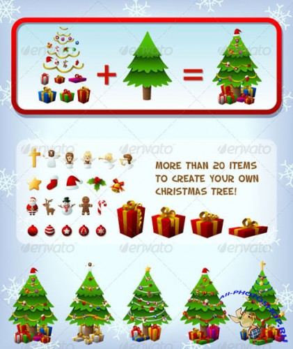 GraphicRiver - Customizeable Christmas Tree 753285
