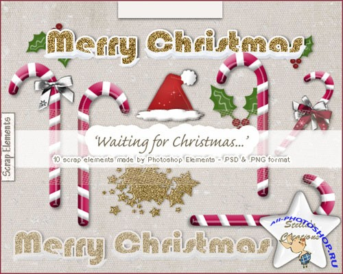 Waiting for Christmas PSD Template