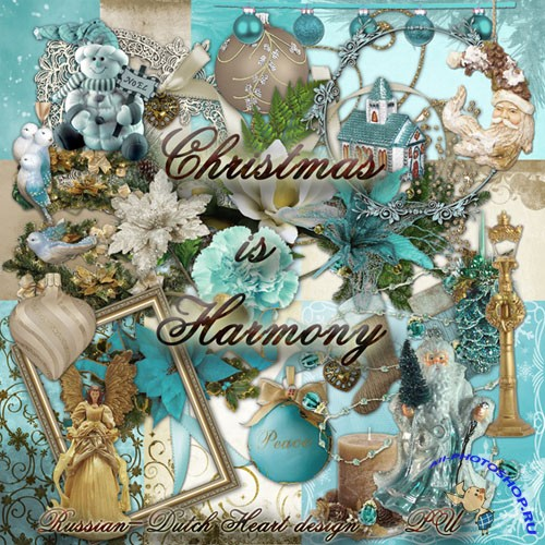 Scrap - Blue Christmas Harmony with Clusters