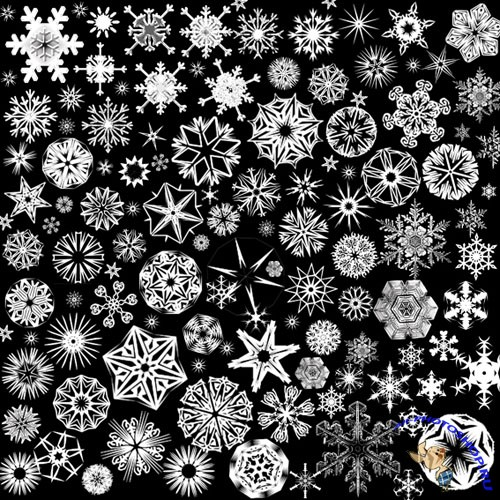Photoshop CS Brushes - Snowflakes