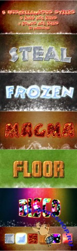 5 Miscellaneous Styles - Steal, Frozen, Magma, Floor, Disco