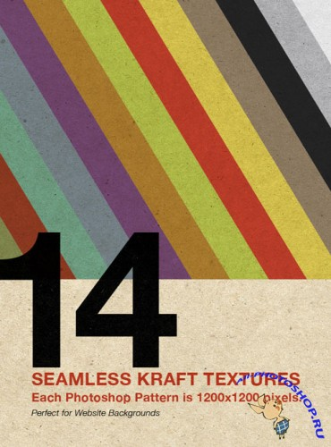 Seamless Kraft Textures and Web Backgrounds