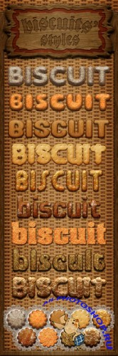 Biscuit Photoshop Styles