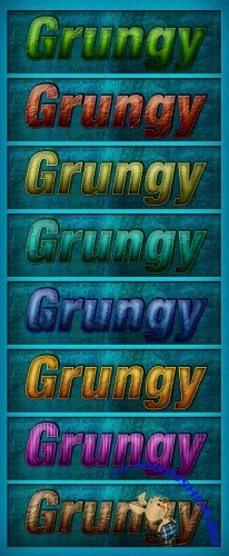 Grungy Photoshop Styles