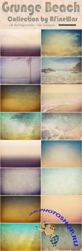 Grunge Beach Textures Collection