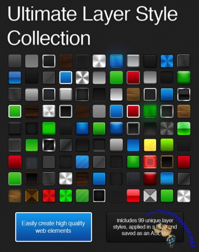 99 Ultimate Photoshop Layer Style Collection