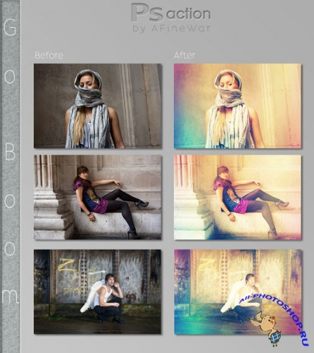 Go Boom Photoshop Actions