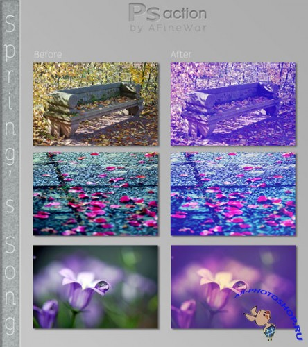 Spring's Song Photoshop Actions
