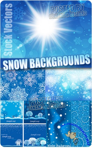 ������� ���� �3 - ��������� ������� | Snow backgrounds 3 - Stock Vectors