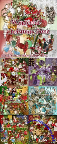 Wonderful Christmas Scraps Pack with Clusters
