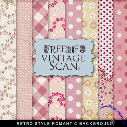 Textures - Retro Style Romantic Backgrounds