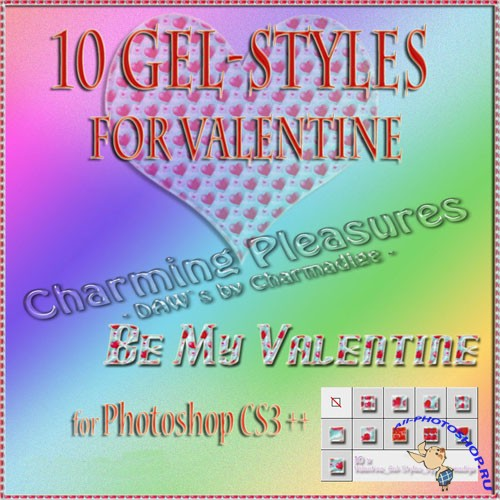 10 Valentine Gel-Styles for Photoshop