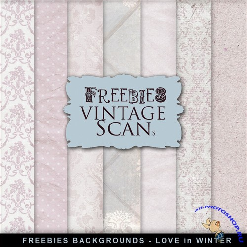 Textures - Retro Style Romantic Backgrounds 3