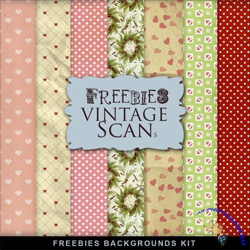 Textures - Retro Style Romantic Backgrounds 2
