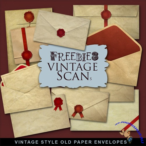 Scrap-kit - Vintage Style Old Paper Envelopers