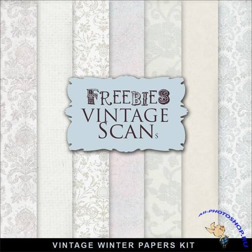 Textures - Vintage Winter Papers