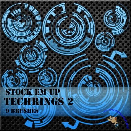 Tech-Rings Photoshop Brushes #2