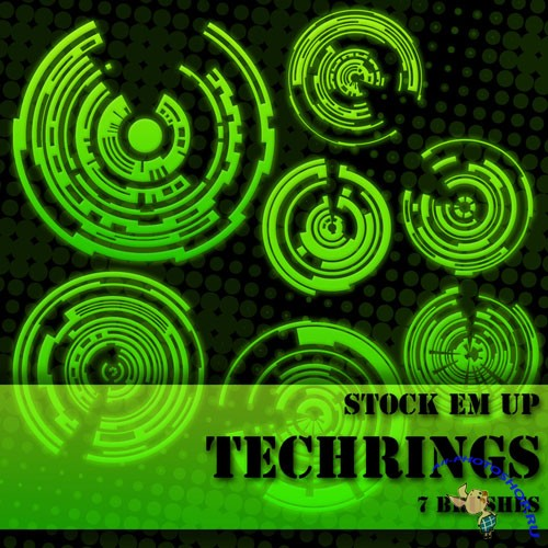 Tech-Rings Photoshop Brushes #1