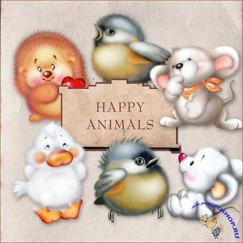 Scrap-kit - Happy Animals
