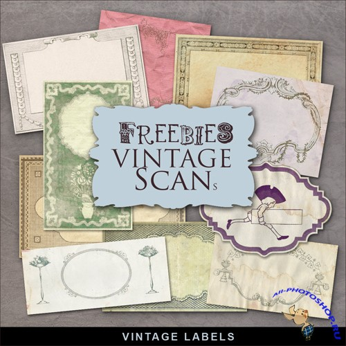 Scrap-kit - Vintage Labels #6