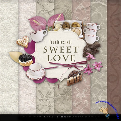 Scrap-set - Sweet Love
