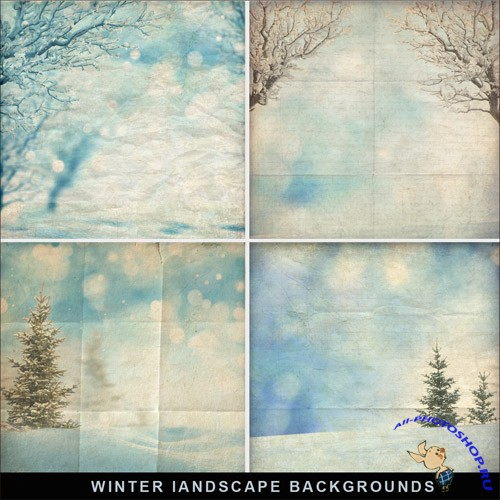 Textures - Winter Landscape Backgrounds