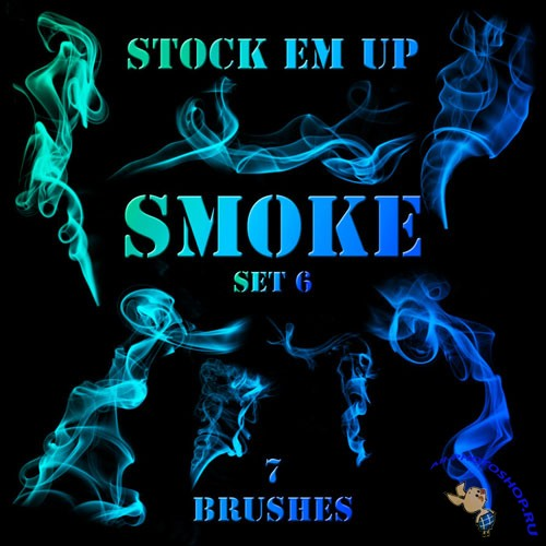 Smoke Photoshop Brushes Set #6